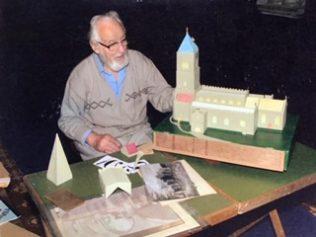 Len Savage & His model of All Saints Church