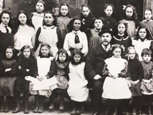 Mr Hopkins with Schoolgirls
