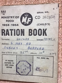 Ministry of Food Ration Book