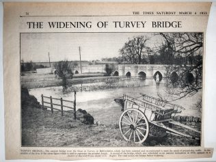The Widening of Turvey Bridge