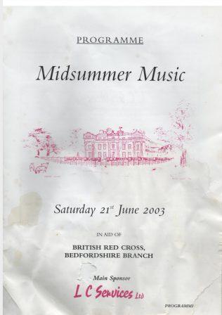2003 Midsummer Music Festival