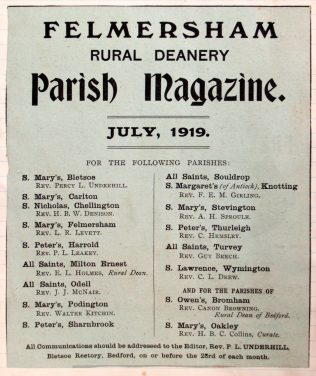 Revd. Guy Beech's Parish Newsletters