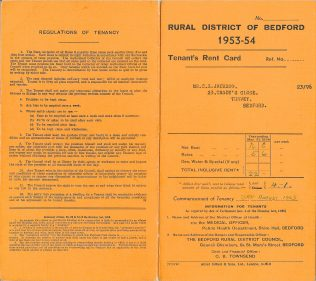 Tenant's Rent Card for 23 Tandy's Close (cover)
