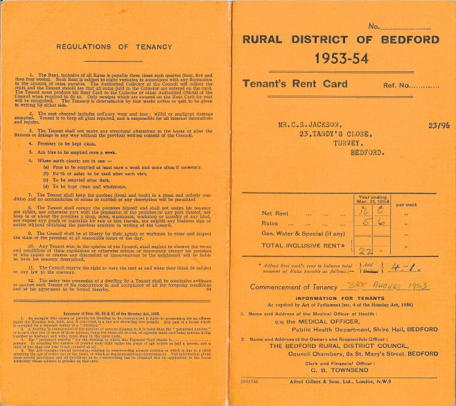 Tenant's Rent Card (cover)