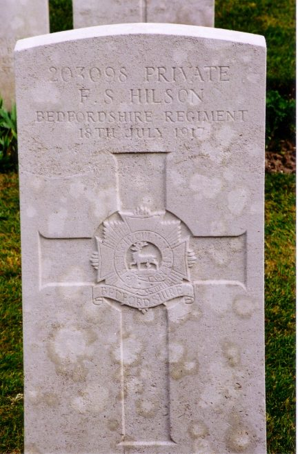 War grave from Etaples cemetery for Frederick Smith Hilson. | Gary Maydom