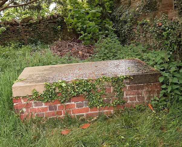 The site of the reburial of the mass grave discovered in 1825 in All Saints churchyard